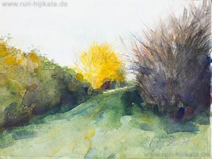 Hügel (Aquarell)